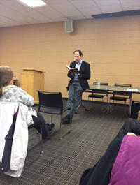 Brad Parks reading from his new book Say Nothing