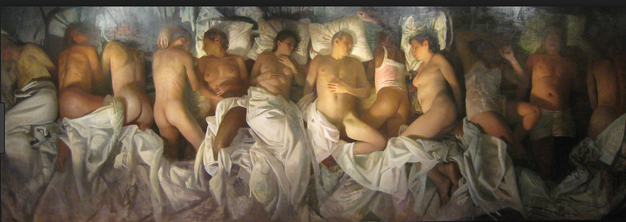 "Vincent Desiderio's ""Sleep"" .... aka The Picture Kanye recreated for Famous"